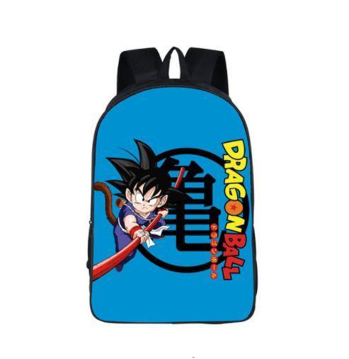 Cute Kid Goku Kanji Symbol Japan Anime School Backpack Bag - Saiyan Stuff