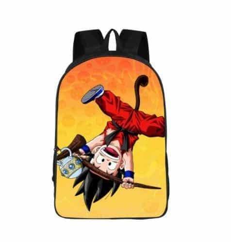 Cute Kid Goku Monkey Tail Style Design School Backpack Bag - Saiyan Stuff