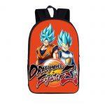 DBZ Blue-Haired Saiyan Dragon Fighterz Orange Backpack Bag - Saiyan Stuff