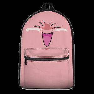 DBZ Fat Buu Cute Pink Blue Cool Canvas Backpack - Saiyan Stuff