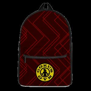 DBZ Goku's Gym Athletic Red Workout Awesome Backpack - Saiyan Stuff