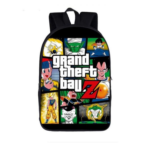 DBZ Grand Theft Ball Z Fan Art Design Handy Backpack Bag - Saiyan Stuff