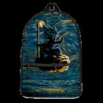 DBZ Kid Goku Flying Nimbus Starry Night Inspired Dope Backpack - Saiyan Stuff