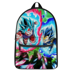 DBZ Vegeta And Goku SSGSS Attack Mode Awesome Canvas Backpack - Saiyan Stuff