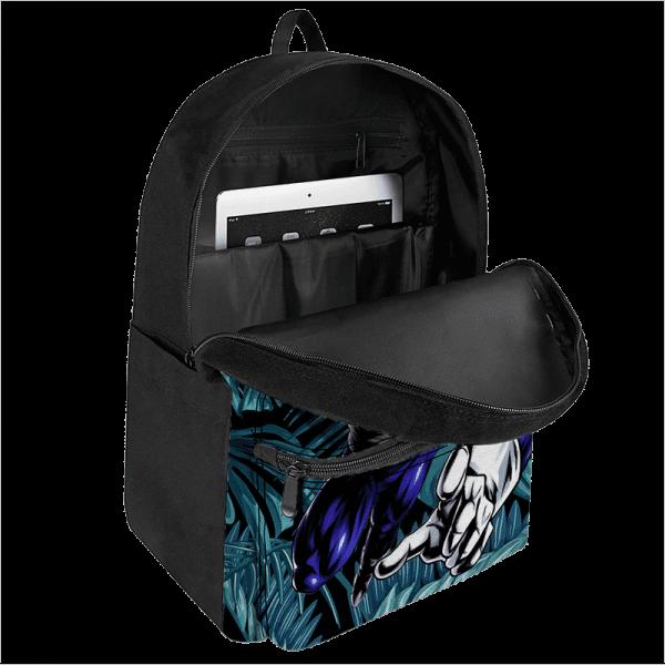 DBZ Vegeta Base Form Tropical Leaves Background Backpack - Saiyan Stuff