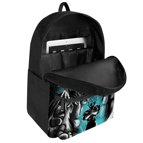 DBZ Vegito SSGSS Dark Themed Design Dope Canvas Backpack - Saiyan Stuff