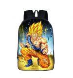 DBZ Goku Super Saiyan Fight Fan Art School Backpack Bag - Saiyan Stuff