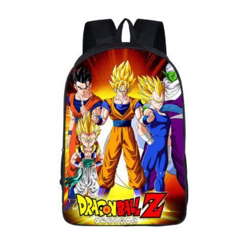 DBZ Goku Vegeta Poster Style Awesome School Backpack Bag