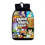 DBZ Grand Theft Auto Fantastic Fan Art Design Backpack Bag - Saiyan Stuff