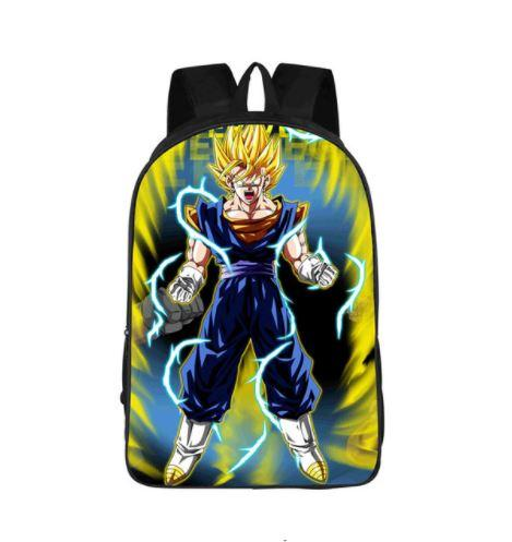 DBZ Vegito Super Saiyan Power Up Cool School Backpack Bag