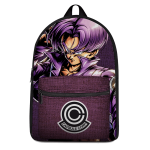 Dragon Ball Future Trunks Capsule Corp Purple Canvas Backpack - Saiyan Stuff