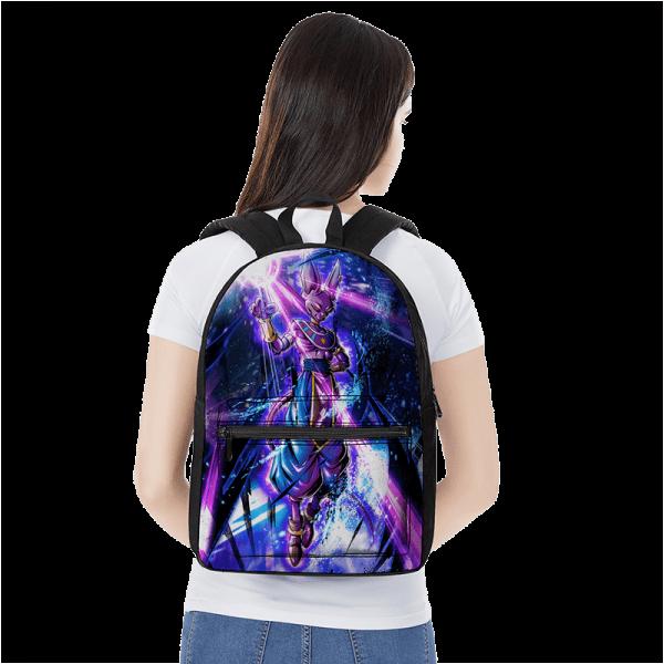 Dragon Ball God Of Destruction Beerus With Ball Of Energy Backpack - Saiyan Stuff