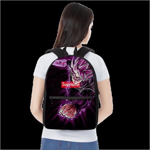 Dragon Ball Goku Black Saiyan Rose Supreme Awesome Backpack - Saiyan Stuff
