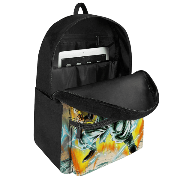 Dragon Ball Gotenks Super Saiyan 3 Powerful Canvas Backpack - Saiyan Stuff