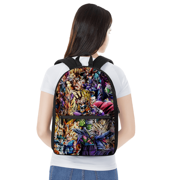Dragon Ball Super Family Of Characters Fantastic Canvas Backpack - Saiyan Stuff