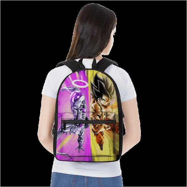 Dragon Ball Super Goku And Frieza Teaming Up Dope Backpack - Saiyan Stuff