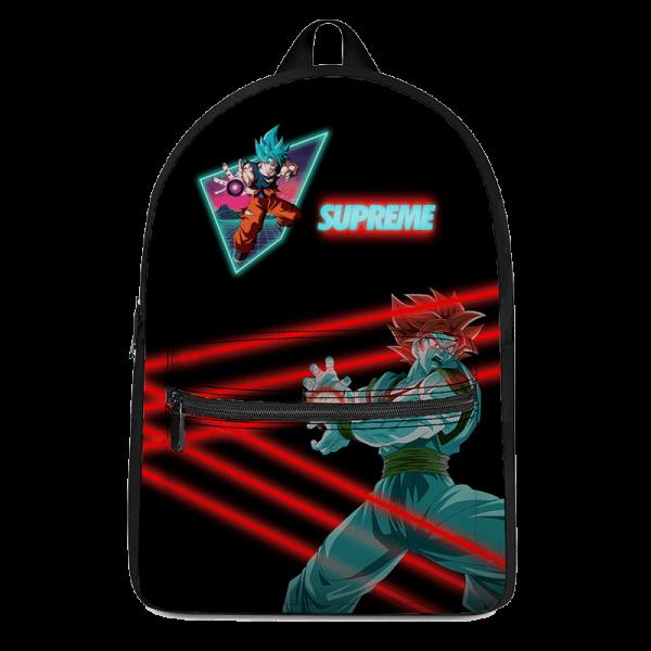 Dragon Ball Super Saiyan Blue Son Goku Supreme Neon Backpack - Saiyan Stuff