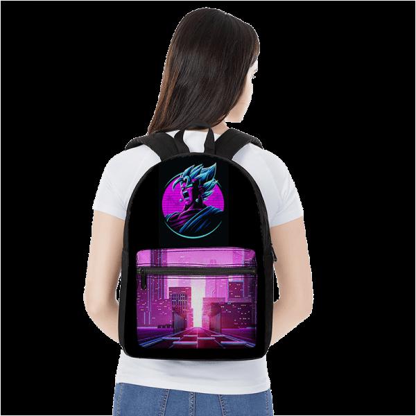 Dragon Ball Vegito Super Saiyan Blue Retro Canvas Backpack - Saiyan Stuff