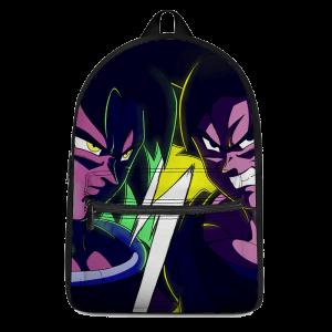 Dragon Ball Z Broly VS Son Goku Contrast Color Art Backpack - Saiyan Stuff