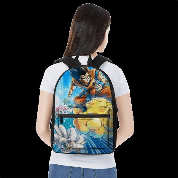 Dragon Ball Z Flying Goku And Piccolo Awesome Canvas Backpack - Saiyan Stuff