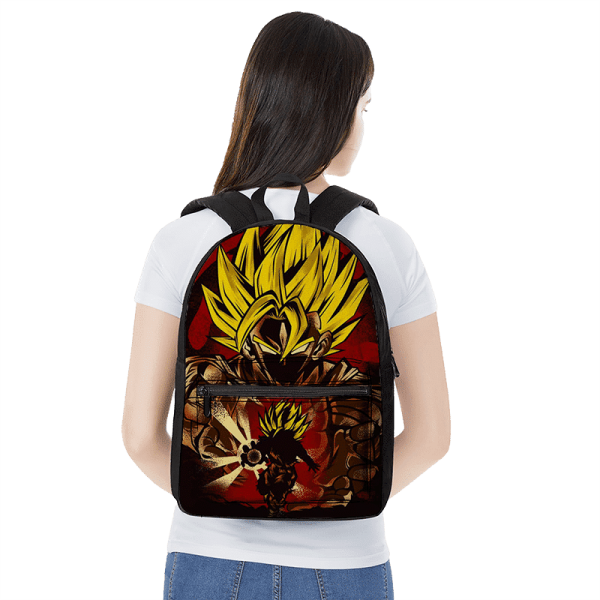 Dragon Ball Z Goku SSJ2 Kamehameha Red Art Backpack - Saiyan Stuff