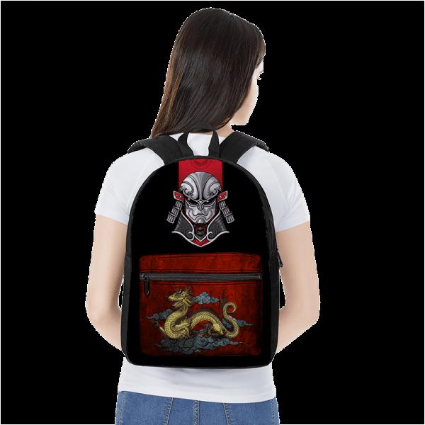Dragon Ball Z Jiren In Samurai Costume Japanese Themed Backpack - Saiyan Stuff