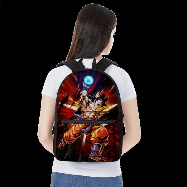 Dragon Ball Z Son Goku Base Form Ball Of Energy Canvas Backpack - Saiyan Stuff