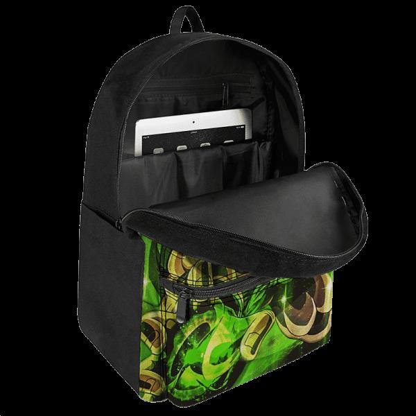 Dragon Ball Z Super Saiyan Broly Green Aura Dope Backpack - Saiyan Stuff