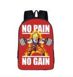 Dragon Ball Goku Motivation Quote Workout School Backpack Bag - Saiyan Stuff