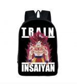 Dragon Ball Goku Train Insane Dope School Backpack Bag - Saiyan Stuff