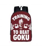 Dragon Ball Gym Training To Beat Goku School Backpack Bag - Saiyan Stuff