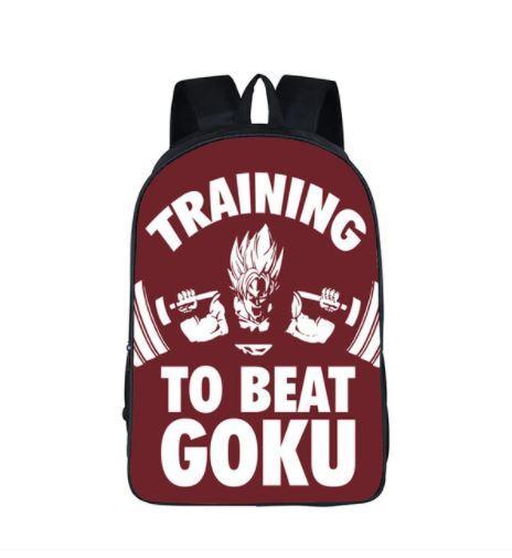 Dragon Ball Gym Training to Beat Goku School Backpack Bag