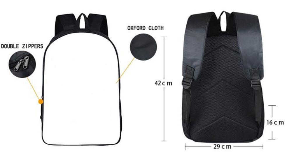 Goku Vegeta Fusion Vegito Powerful School Backpack Bag