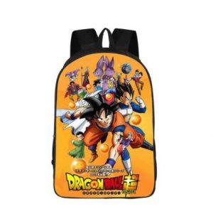 Dragon Ball Super Gods Poster Anime School Backpack Bag - Saiyan Stuff