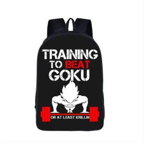 Dragon Ball Vegeta Workout Motivation School Backpack Bag - Saiyan Stuff