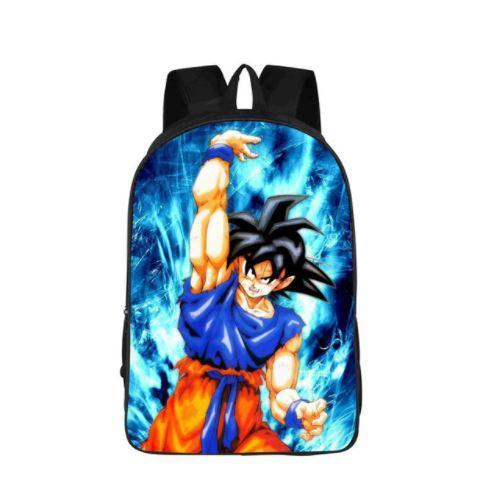 Goku Spirit Bomb Skill Power Aura School Backpack Bag - Saiyan Stuff