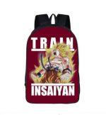Goku Super Saiyan Mode Train Insane School Backpack Bag - Saiyan Stuff