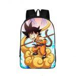 Kid Goku Rides Nimbus Cloud Cartoon School Backpack Bag - Saiyan Stuff