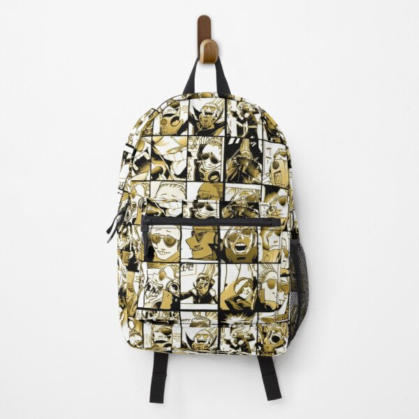 Present Mic (color version) - My hero academia collage  Backpack RB0605 product Offical Anime Backpacks Merch