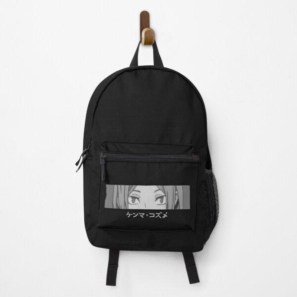 Haikyuu Kenma Nekoma Graphic Black and White Eyes Closeup Backpack RB0605 product Offical Anime Backpacks Merch