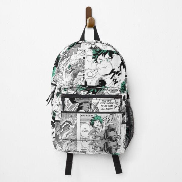 My Hero Academia Deku Manga Collage  Backpack RB0605 product Offical Anime Backpacks Merch