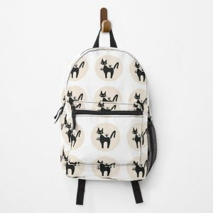 Jiji Cat Circle White Design Backpack RB0605 product Offical Anime Backpacks Merch