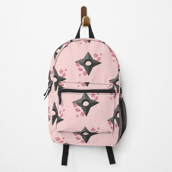 Shuriken and Sakura Blossoms Backpack RB0605 product Offical Anime Backpacks Merch