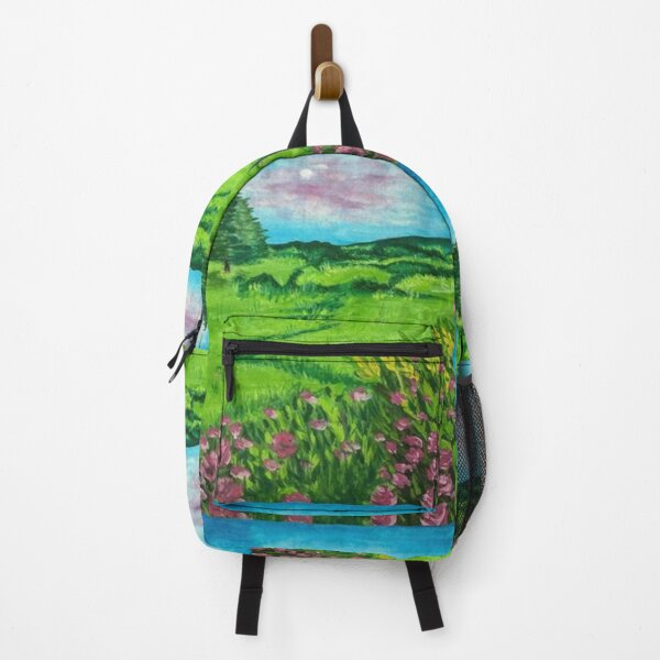Summer's Day Flowers Landscape Painting Backpack RB0605 product Offical Anime Backpacks Merch