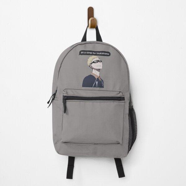 Haikyuu Tsukishima Kei Themed Design/ Simp Anime Boy  Backpack RB0605 product Offical Anime Backpacks Merch