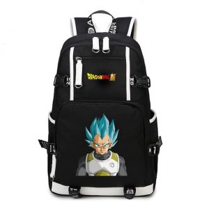 DBZ Vegeta Super Saiyan Blue Gray Battle Suit Backpack