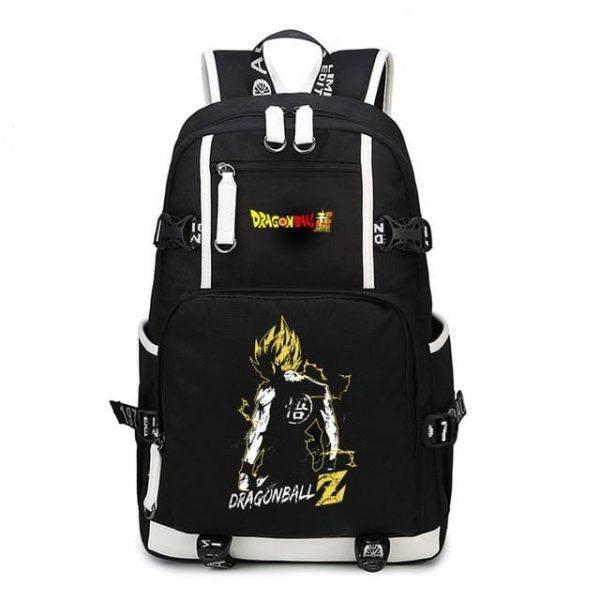 DBZ Son Goku's Silhouette Yellow Aura Backpack Bag