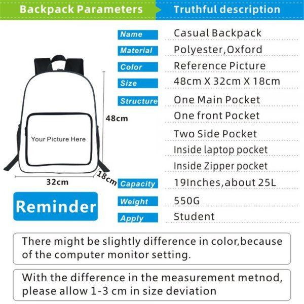 19 Inches Hunter X Hunter Backpack Japan Anime Printing Kids Fashion Simplicity Bookbag Student School Bag 1 - Anime Backpacks