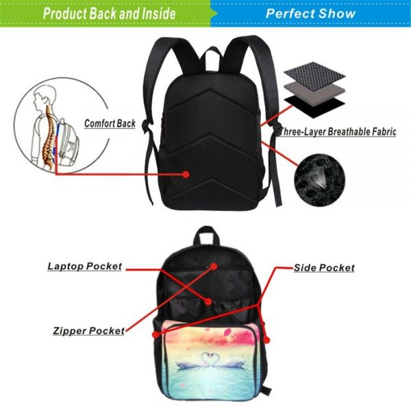 19 Inches Hunter X Hunter Backpack Japan Anime Printing Kids Fashion Simplicity Bookbag Student School Bag 2 - Anime Backpacks