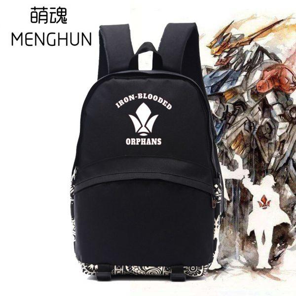 2017 Hot anime Mobile Suit Gundam IRON BLOODED ORPHANS TEKKADAN logo backpack anime fans backpack anime 2 - Anime Backpacks